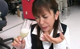 Nasty Japanese Babes Gets Their Mouths Filled With Hot Cum