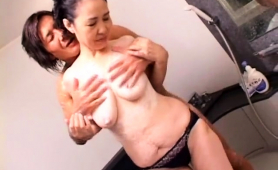 Lustful Japanese Wife Has A Younger Guy Plowing Her Snatch