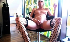 provoking-milf-in-stockings-blows-a-dick-and-rubs-her-cunt