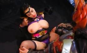 Stacked Asian Girl In A Sexy Costume Enjoys Hardcore Action