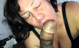Mature Brunette Wife Has A Black Bull Drilling Her Wet Pussy