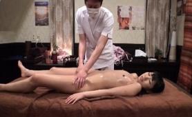 Petite Asian Girl Enjoys A Hard Fucking On The Massage Table