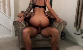 Amateur Milf In Stockings Buries A Hard Cock Deep In Her Ass